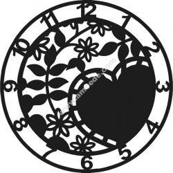 Heart-shaped clock is skewed