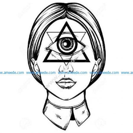Illuminati female cyclop