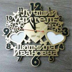 Laser Cut Heart Shape Clock