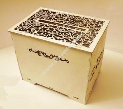 Laser Cut Wedding Card Box