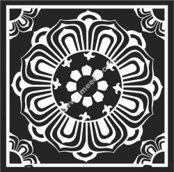 Lotus patterned square pattern