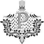 Monogram Ornament Letters P