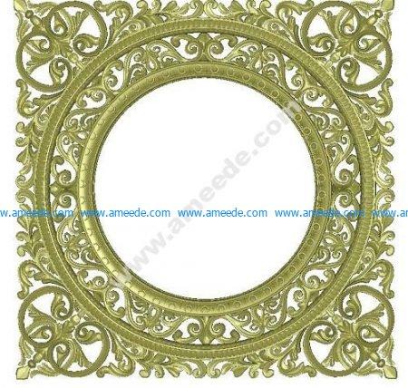 Round Mirror Frame 3D Model
