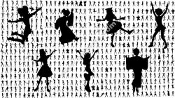 Silhouettes of Anime Girls