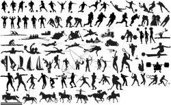 Silhouettes of Sportsmen