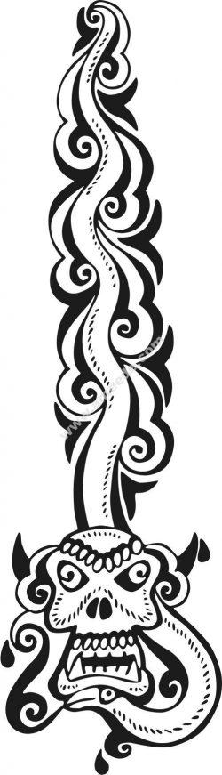 Skull-shaped snake pattern