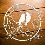 love birds on tree branch free laser cut files