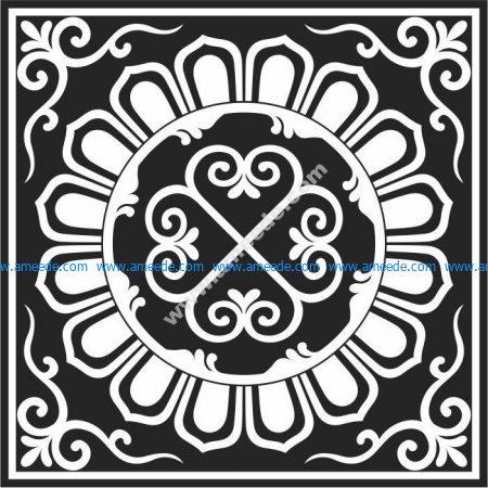 pattern of lotus squares