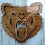 Bear Head 3D Laser Cut