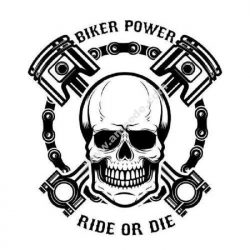 Biker power plaque