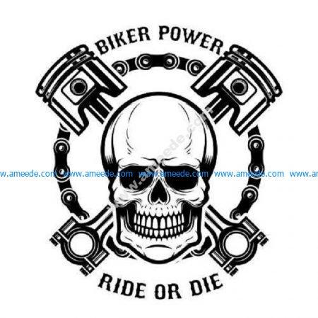 Biker power plaque