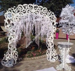 DIY Wedding Arch with Table Decor