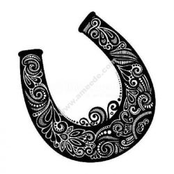 Detailed lucky horse shoe