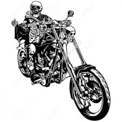 Ghost rider skull motorcycle