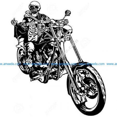 Ghost rider skull motorcycle