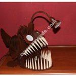 Laser Cut Angler Fish Lamp