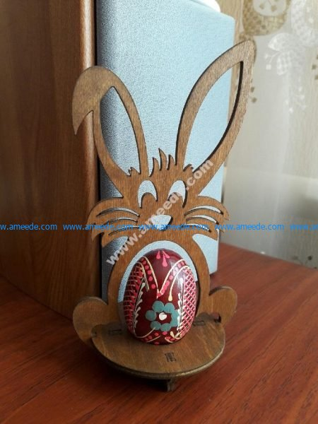 Laser Cut Easter Bunny Egg Holder