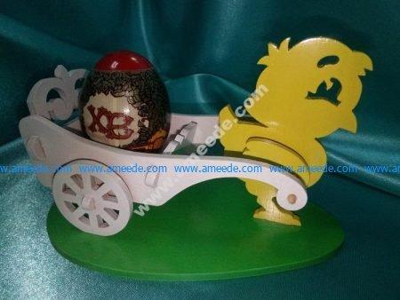 Laser Cut Easter Chicken Egg Holder Template