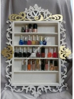Laser Cut Nail Polish Rack Nail Polish Shelf