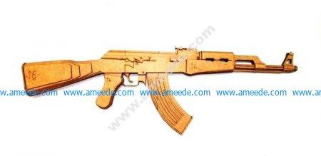 Laser Cut AK-47 Rifle