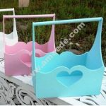 Laser Cut Basket with Handle Heart