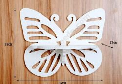 Laser Cut Butterfly Shelf Vector