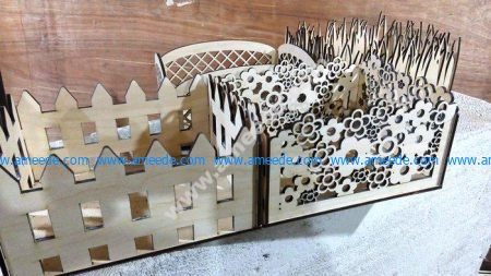 Laser Cut Decorative Storage Baskets