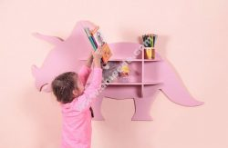 Laser Cut Dinosaur Shelf Furniture