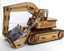 Laser Cut Excavator Visiting Card Holder