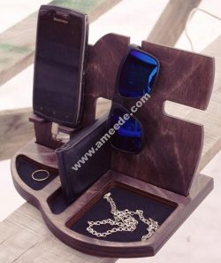 Laser Cut Phone Charging Station with Desk Organize
