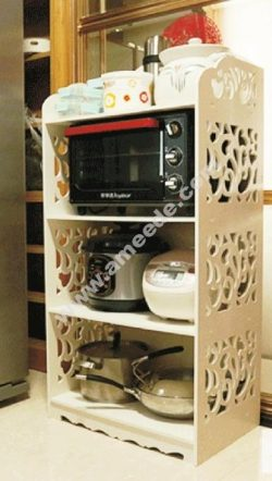 Laser Cut Shelf Rack for Kitchen