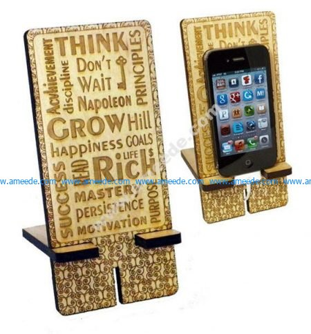 Laser Cut Stand for Smartphone