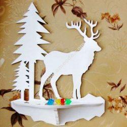 Laser Cut Wall Shelf Deer