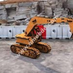 Laser Cut Wood Excavator 3D Puzzle
