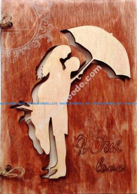 Laser Cut Wooden Postcard
