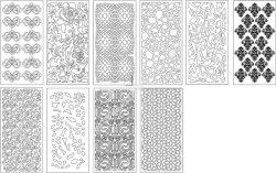 Laser cutting Architecture Pattern