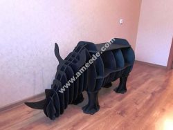 Rhino Bookshelf 8mm Laser Cut