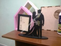 Valentine Couple Laser Cut Photo Stand