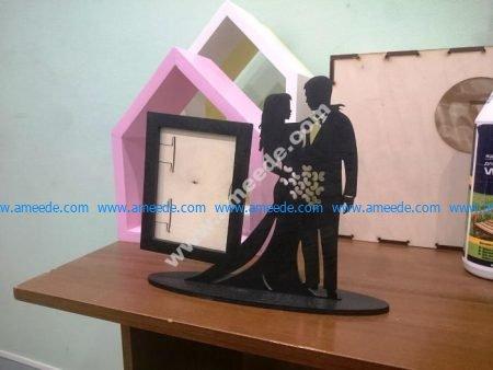 Valentine Couple Laser Cut Photo Stand
