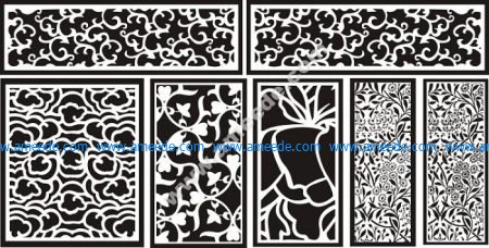 cnc cutting designs patterns | Graphic Design Vector