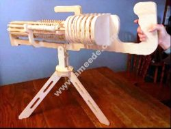 Laser Cut Machine Gun 3D Puzzle