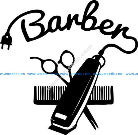 Barber fashion door hairstylist