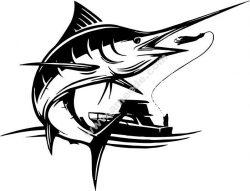 Boat fishing swordfish
