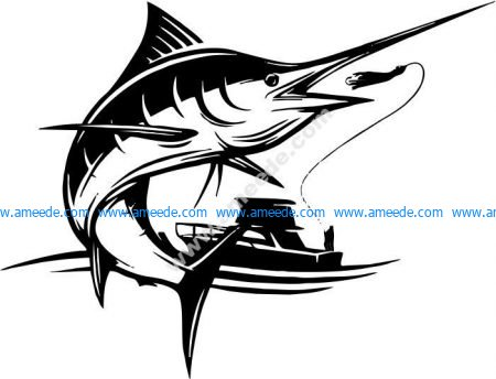 Boat fishing sword fish