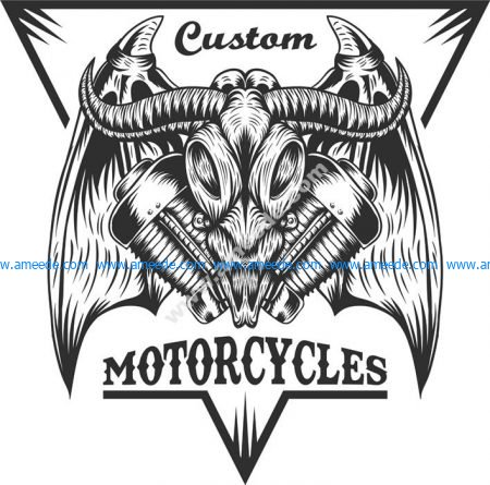 Bull Moto Sticker