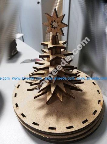Christmas Tree 3mm Plywood