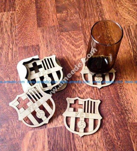FCB Football Coasters