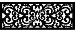 Grille Floral Design Pattern