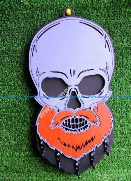 Key Hanger Beard Skull