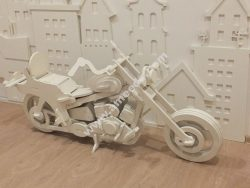 Large model of motorcycle model laser cutting model